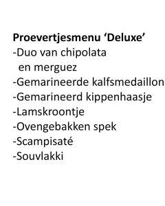 Proevertjesmenu Deluxe